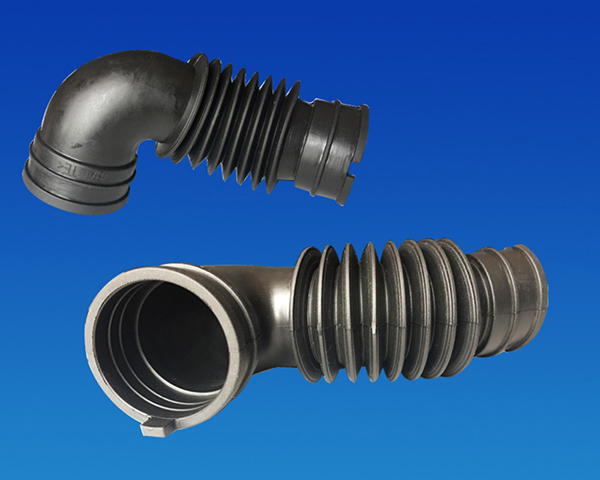 Corrugated pipe and rubber parts